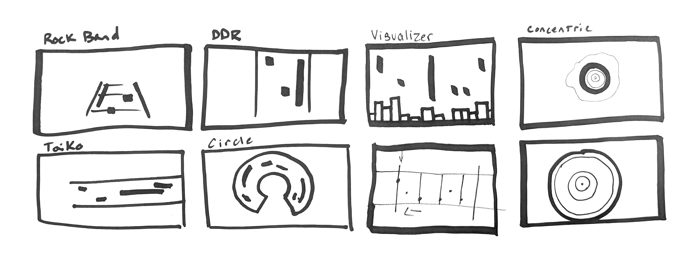 Game Interface Sketches